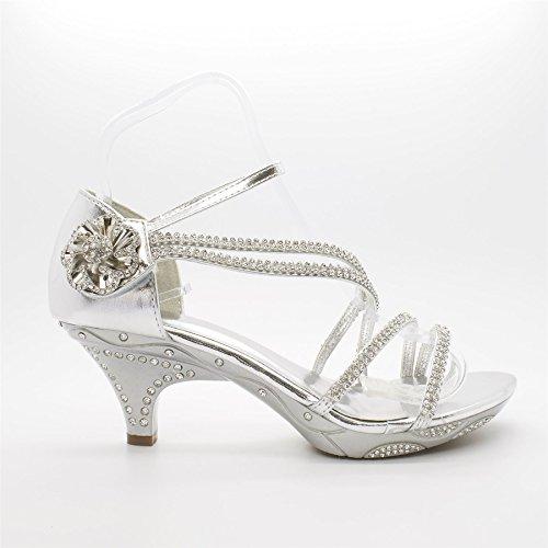London Footwear - Sandalias de vestir para mujer Plateado - plata