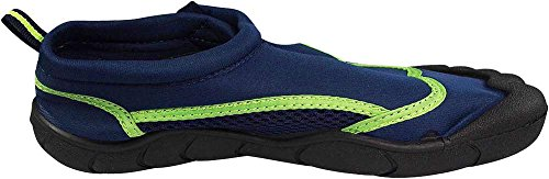 NORTY Young Mens Skeletoe Aqua Wave Water Shoe - Runs 1 Size Small Navy Lime Hq1rOoudPM