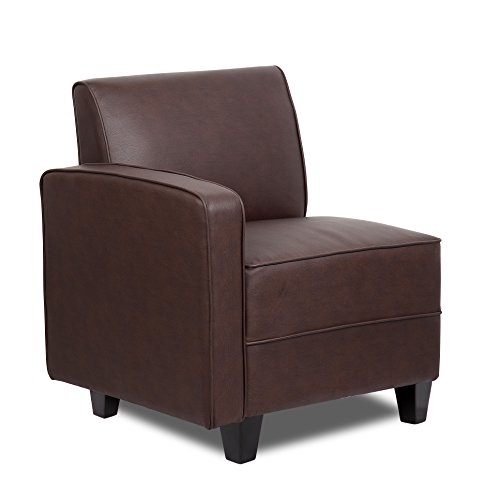 Right Arm Sofa (Boss Office Products BRS1RA-BB Sectional Sofa Right Arm in Bomber Brown)