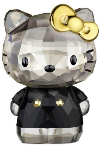 Swarovski Hello Kitty Gold Bow Figurine