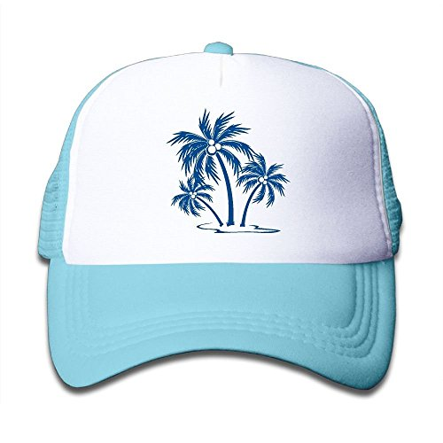 Tree Clipart - Palm Tree Clipart Three Palm On Boys and Girls Trucker Hat, Youth Toddler Mesh Hats Baseball Cap