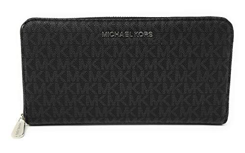 Michael Kors Jet Set Travel Zip Around Travel Wallet (Black)