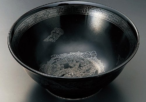 BLACK-GLAZE-DRAGON 8.3inches Noodle bowlJiki Japanese Original Porcelain