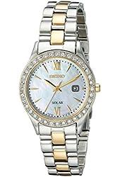 Seiko Women's SUT074 Dress Two-Tone Stainless Steel Swarovski Crystal-Accented Solar Watch