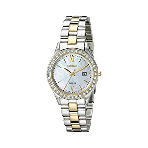 41Bc9pXwTjL. SS300  - Seiko Women's SUT074 Dress Two-Tone Stainless Steel Swarovski Crystal-Accented Solar Watch