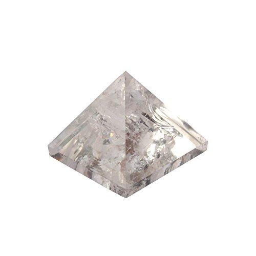 HongJinTian Natural Rock Crystal Quartz Stone Pyramid Triangle APPROX. W2.09inches ()