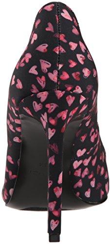 Nine West Vrouwen Tatiana Stof Jurk Pomp Zwart / Roze / Multi-fabric