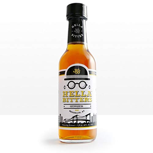 Hella Cocktail Co. | Ginger Bitters, 5 oz | Craft Cocktail Bitters Made with Real Ginger and Whole Spices|Perfect for Holiday Cocktail Recipes