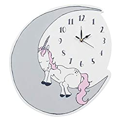 Trend Lab Unicorn Dreams Wall Clock, Silent, Battery Operated