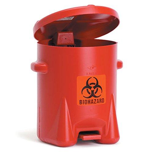 Polyethylene Biohazard Can 6-Gallon 13.5''W x 16.5''D x 16''H by CeilBlue