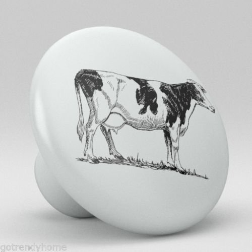Dairy Cattle Milk Cow Ceramic Knobs Pulls Kitchen Drawer Cabinet Vanity 367 -