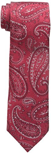 Sean John Men's Textured Paisley Tie, Red, One Size