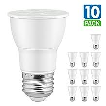 SUNEON PAR16 LED 2700k Warm White Flood Light Bulbs 7.5W 75W Equivalent Dimmable E26 120V UL-Listed and Energy Star