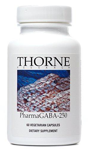 Thorne Research - PharmaGABA-250 - A 250 mg Natural Source GABA (Gamma-Aminobutyric Acid) Supplement - 60 Capsules