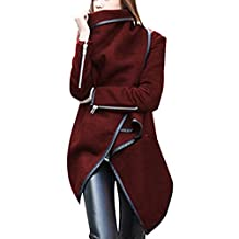 ClothingLoves Women's Solid Cotton Blends Long Trench Coats