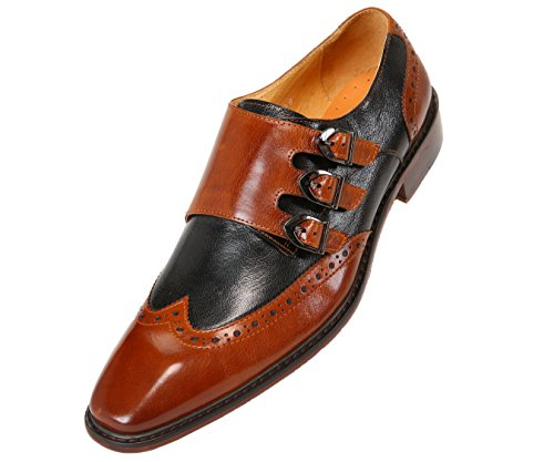 Asher Green Mens Genuine Two-Tone Leather Dress Shoes, Comfo