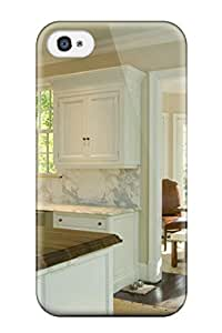 High-quality Durable Protection Case For Iphone 4/4s(neutral Dining Area And Kitchen With White Marble Backsplash)