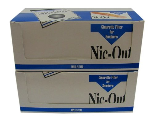 NIC-OUT Cigarette Filters 2 Cartons/Boxes 40 Packs (1200 Filters) Smoking Free Tar & Nicotine Disposable Nicout Holders for Smokers DON'T QUIT SMOKING Nicfree