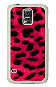 ViVilaa Pink Leopard Black Design Samsung Galaxy S5 White Sides Hard Shell Case