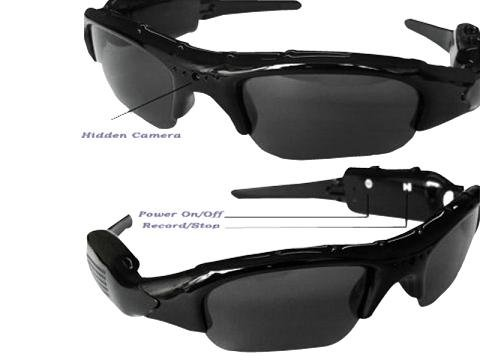Surveillance Camcorder Video Recorder Sunglasses w/ MicroSD Slot Spy Cam, Security, - Sunglasses 2171
