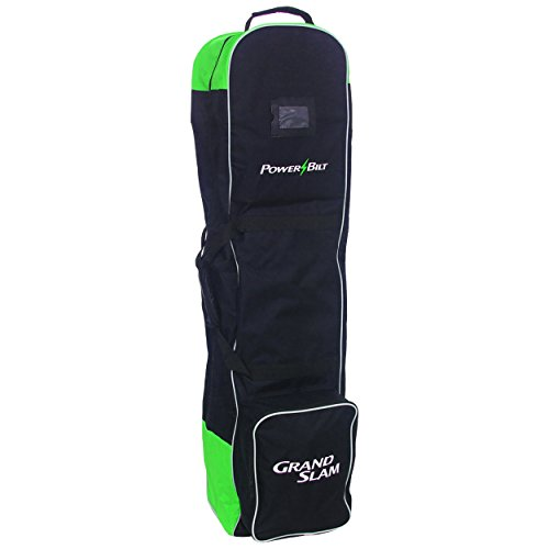 PowerBilt Golf Grand Slam Wheeled Travel Cover, Black/Green by PowerBilt