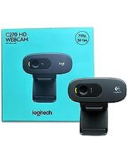 Logitech C270 HD Webcam | 720p/30fps | Built-in Noise Reducing Mic | Auto Light Correction | For Skype,FaceTime,Hangouts,WebEx,PC,Mac,Laptop,Macbook,Tablet , 2725605474947