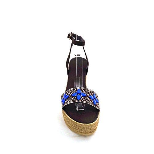 Women's Fiori 45927 di Fashion brown Mercante di moro brown dark Nmp Sandals gwZCaUqx