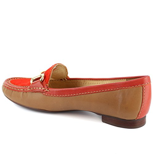 Marc Joseph New York Vrouwen Grand Straat Loafer Tan Oranje