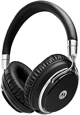 Motorola SH003BK Pulse M - Over Ear Wired Headphones & Mic ? Premium Metal Design HeadsetFoldable Rotating Cups - Big Sound Great Bass