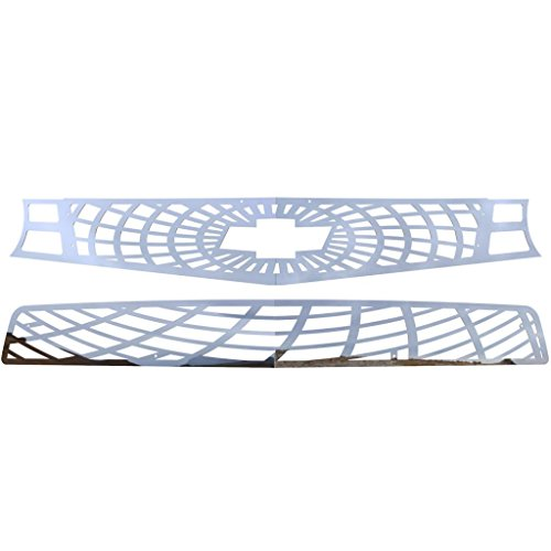 (Ferreus Industries Polished Stainless Spider Web Grille Grill Insert Trim fits: 2010-2013 Chevy Camaro SS TRK-158-07)