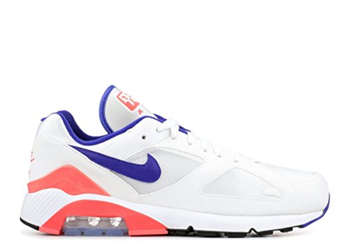 Nike Men's Air Max 180, White/Ultramarine-Solar RED, 10 M US (Nike Air Max Griffey Fury 2012 Release Date)