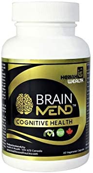 BRAINMEND Nootropic – Brain Supplement for Focus Memory Mental Clarity Mood Concentration Brain Booster, Bacopa Ashwagandha Lions Mane Mushroom – Natural Herbs Vitamin for Dementia Alzheimers