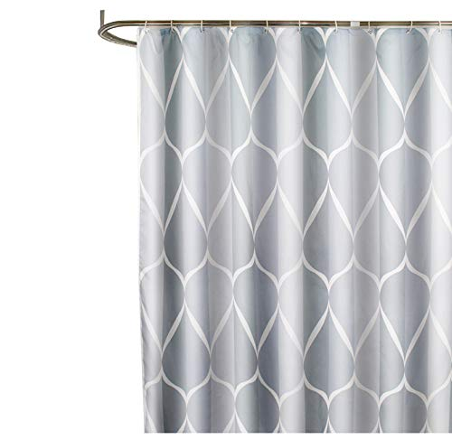 Free Curtain Patterns - Sfoothome Gray Smart Printed Pattern,Waterproof Polyester Fabric Shower Curtain with Free Hooks for Bathroom (72 Inch by 78 Inch)-Gray