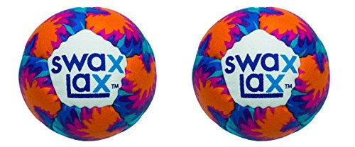 SWAX LAX (2-Pack Maui Lacrosse Training Ball - Same Size and Weight as Regulation Lacrosse Ball but Soft - No Rebounds, Less Bounce
