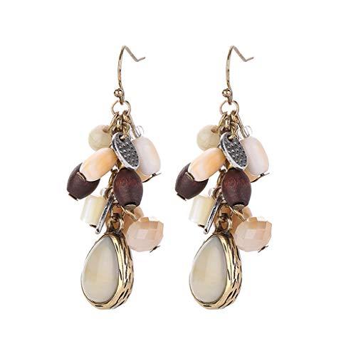 - Mitiy Women Vintage Retro Ethnic Drop Bohemian Dangle Earring Lolita Antique Bead Tassel Dangle Earrings