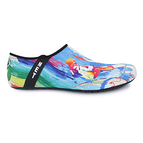 JOINFREE Damen Herren Kid Sommer Wasser Schuhe Barfuß Schuh Quick Dry Aqua Socken Yoga Surf Blau