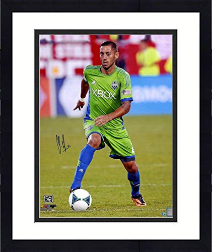 Framed Clint Dempsey Signed Seattle Sounders Dribbling 16x20 Photo - Steiner Sports Certified - Autographed Soccer ()