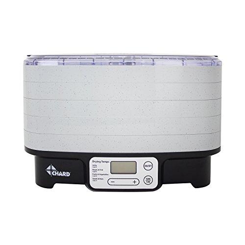 Chard DD-5S 5 Tray Digital Dehydrator, (Rotating Food Dehydrator)