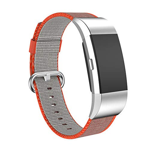 2019 Great Best Gift !!! Cathy Clara Watchband Sports Royal Woven Nylon Bracelet Strap Band for Fitbit Charge 2 Smart ()