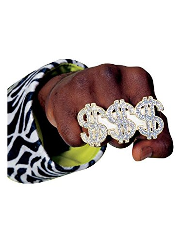 Rubie's Costume Co Triple Dollar Sign Ring Costume