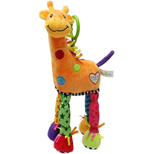 BABYFANS Toys Little Giraffe Bed Lathe Hanging Rattles Baby Toy 0-36 Months Activity Product (Old Body 09)