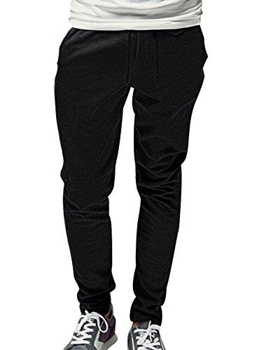 Men Low Waist Drawstring Zip Fly Seam Pockets Fleece Pants