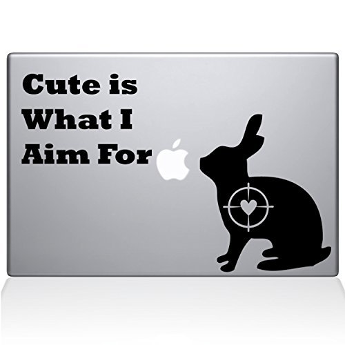 魅了 The Decal Guru Cute Rabbit [並行輸入品] Hunting Macbook Decal Decal Vinyl Black Sticker - 15 Macbook Pro (2016 & newer) - Black (1247-MAC-15X-BLA) [並行輸入品] B0788PB9WN, 花の資材屋e-Annasakka:dcb5440e --- a0267596.xsph.ru