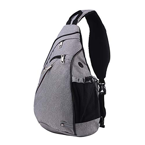Upgraded  RYOMI Sling Bag Canvas Crossbody Backpack for Women and Men  Waterproof Lightweight Shoulder 5e1dfc3c78221