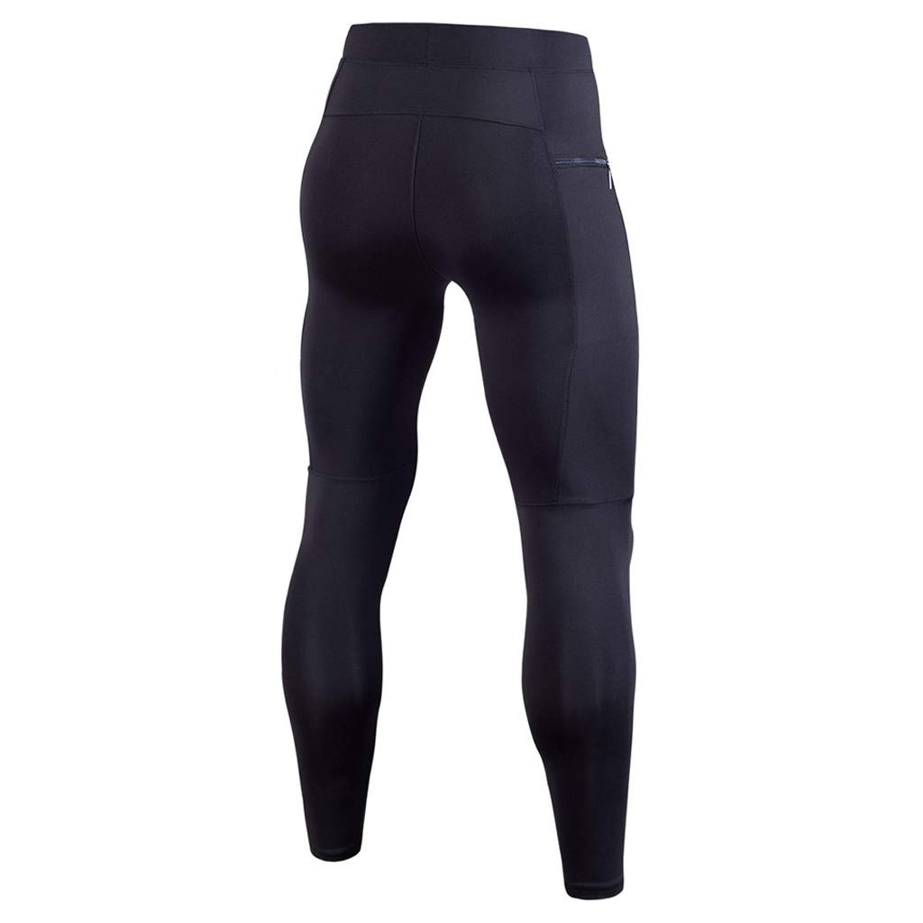 Mens Compression Pants Workout Leggings with Pocket Hiking Performance Running Tights Athletic Pants//Thermal Underwear