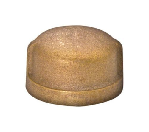 Jmf Threaded Cap 2 '' Fip Red Brass Lead Free