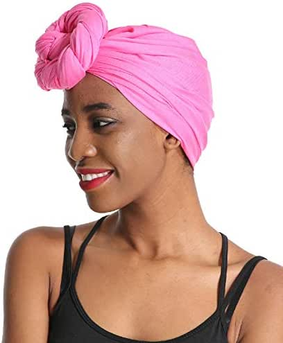 24 Colors | Solid Color Head Wrap & Scarf - Stretch Jersey Knit Hair Wrap, Long Turbans