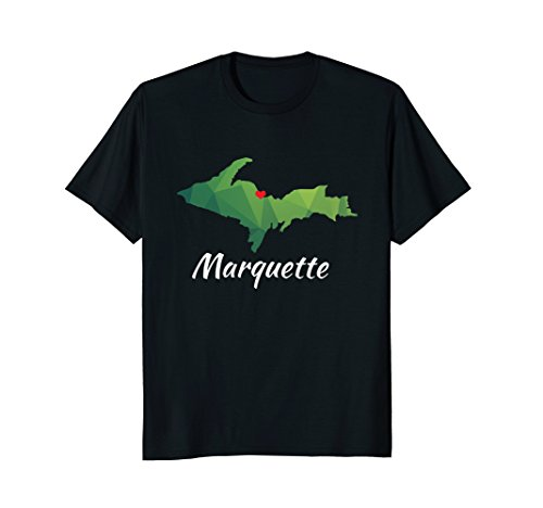 Modern Marquette Michigan Upper Peninsula Yooper U.P. Shirt
