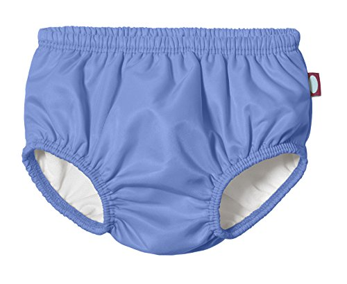 City Threads Baby Girls' and Boys' Swim Diaper Cover Reusable Leakproof for Swimming Pool Lessons Beach, Denim Blue, 5