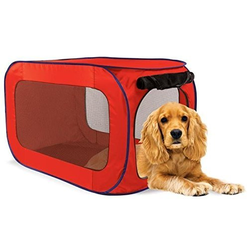 Sport Pet Designs Kennel Pro Pop Open, Medium, Colors Vary (Red/Green)